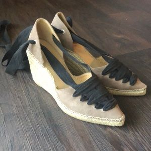 Pointy Toe Espadrille Wedges
